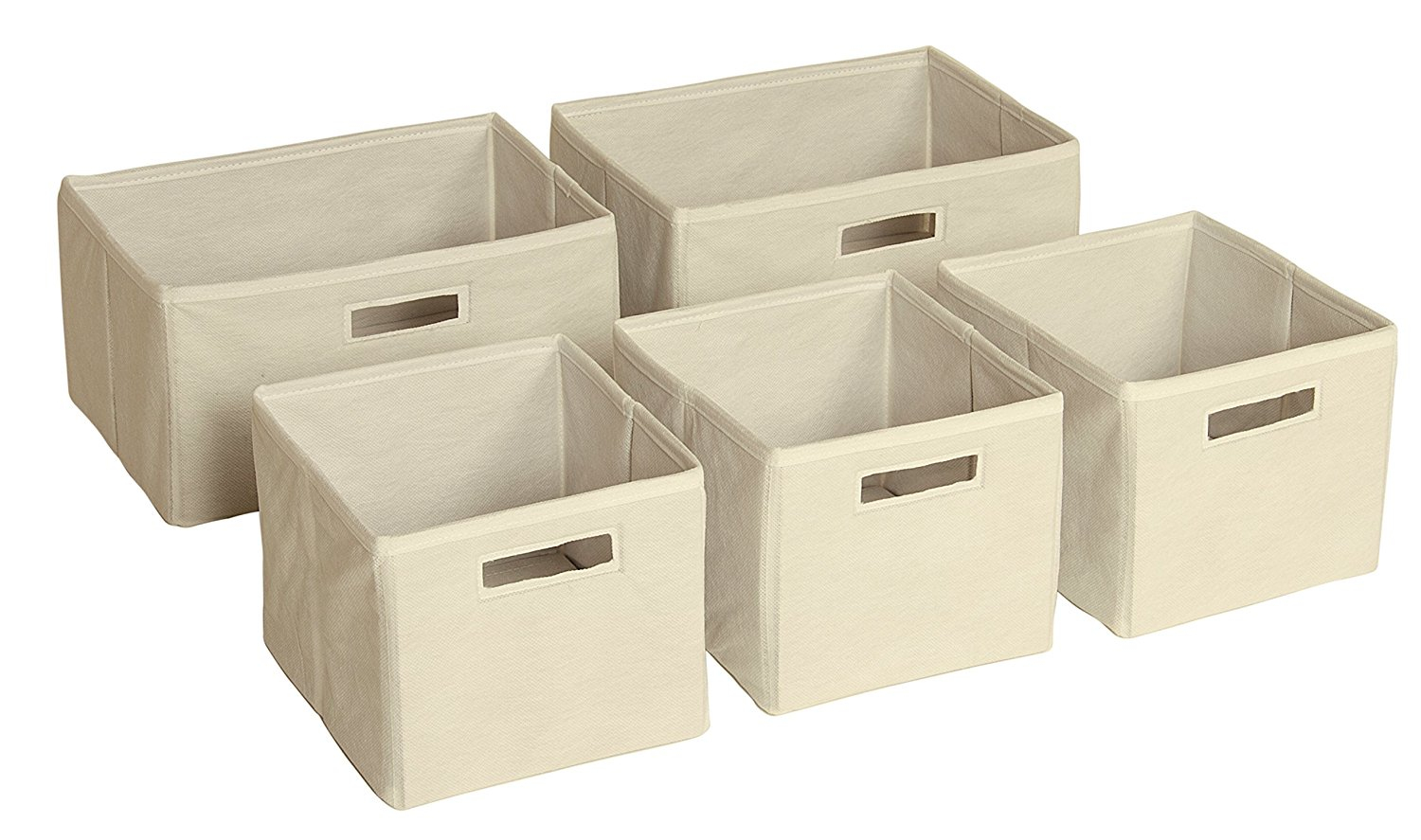 Guidecraft G86200 Foldable Fabric Storage Bins Cube Organizers Set with sizing 1500 X 887