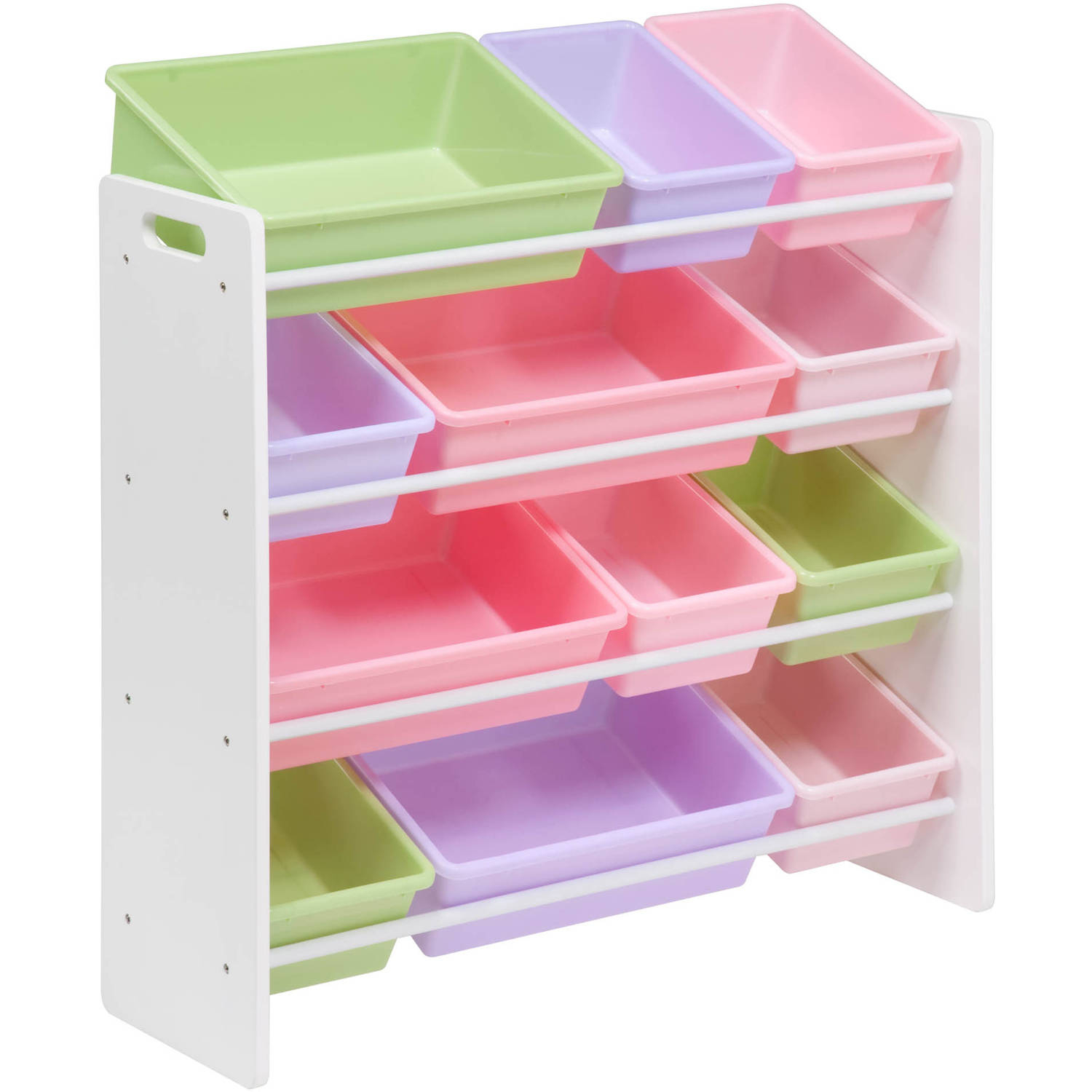 Honey Can Do Kids Toy Organizer With 12 Storage Bins Multicolor throughout dimensions 1500 X 1500