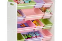 Honey Can Do Kids Toy Storage Organizer With Bins Whitepastel Srt with regard to dimensions 1000 X 1000