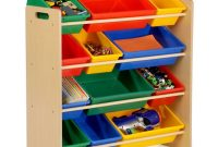 Honey Can Do Kids Toy Storage Organizer With Plastic Bins Natural inside proportions 1000 X 1000