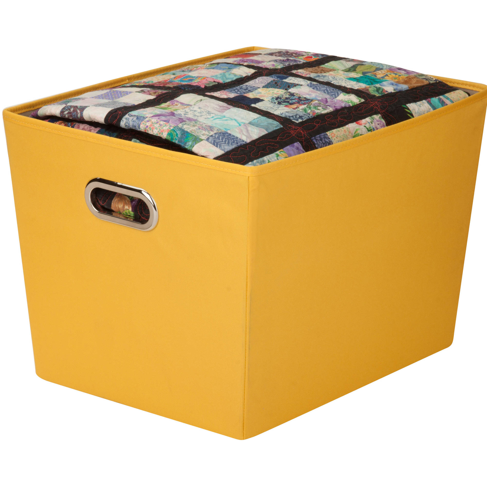 Honey Can Do Large Decorative Storage Bin With Handles Multicolor pertaining to size 2000 X 2000