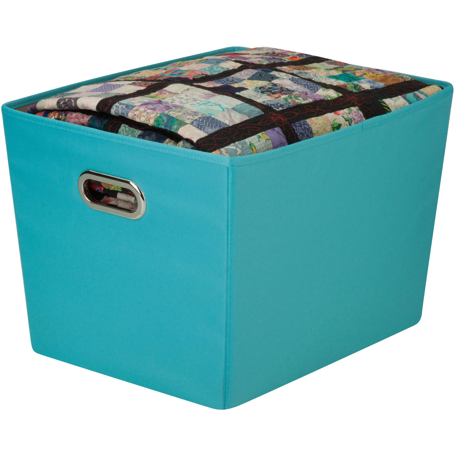 Honey Can Do Large Decorative Storage Bin With Handles Multicolor with size 1500 X 1500