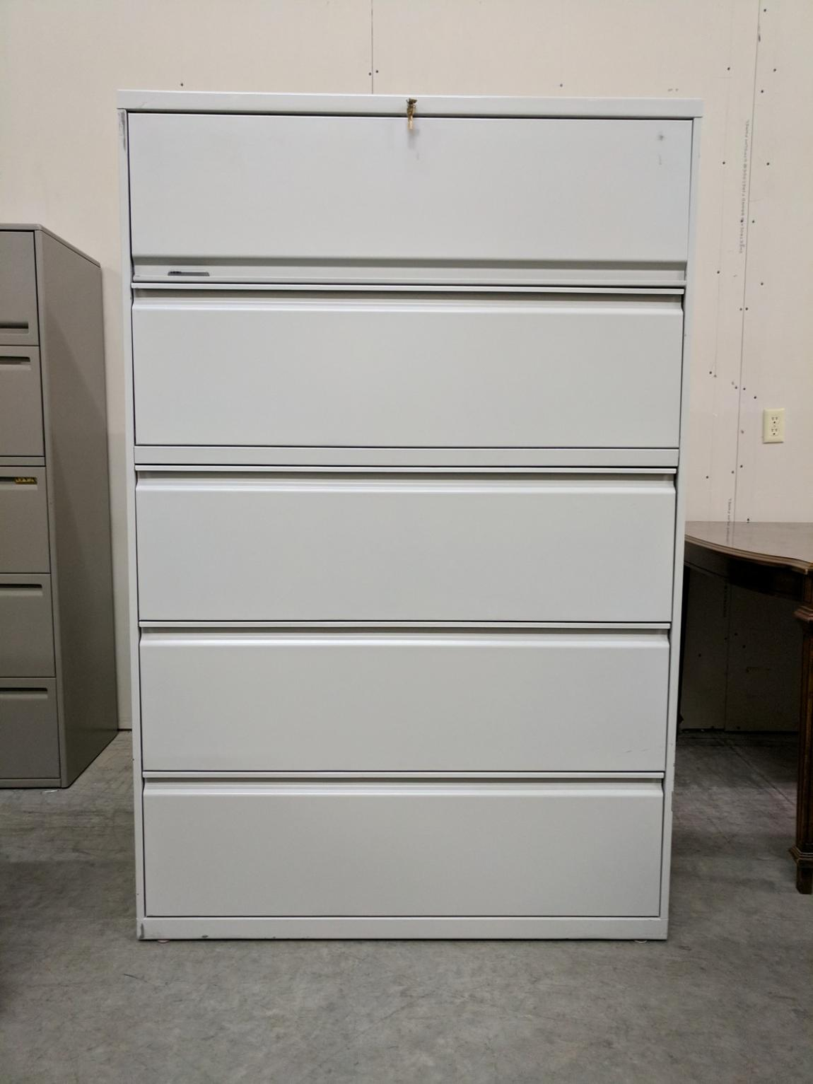 Images Of Hon 5 Drawer Putty Lateral File Cabinet 42 Inch Wide within dimensions 1150 X 1533