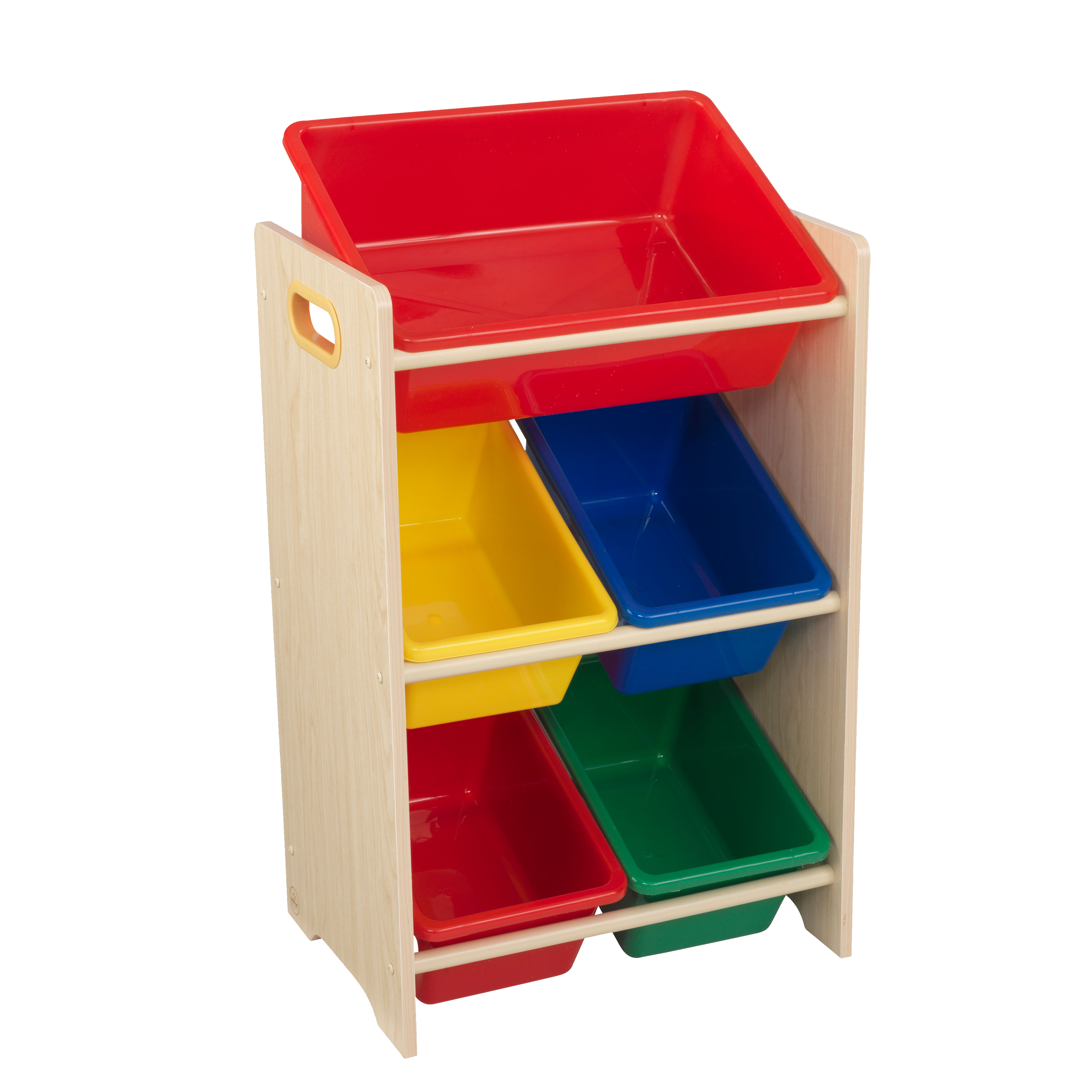 Kidkraft Wooden Childrens Toy Storage Unit With Five Plastic Bins pertaining to size 3480 X 3480