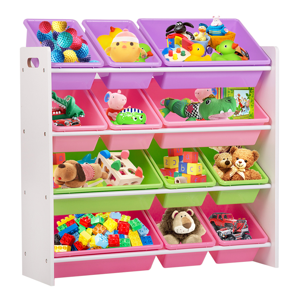 Kids Toy Storage Organizer With Plastic Bins Storage Box Shelf inside measurements 1010 X 1010