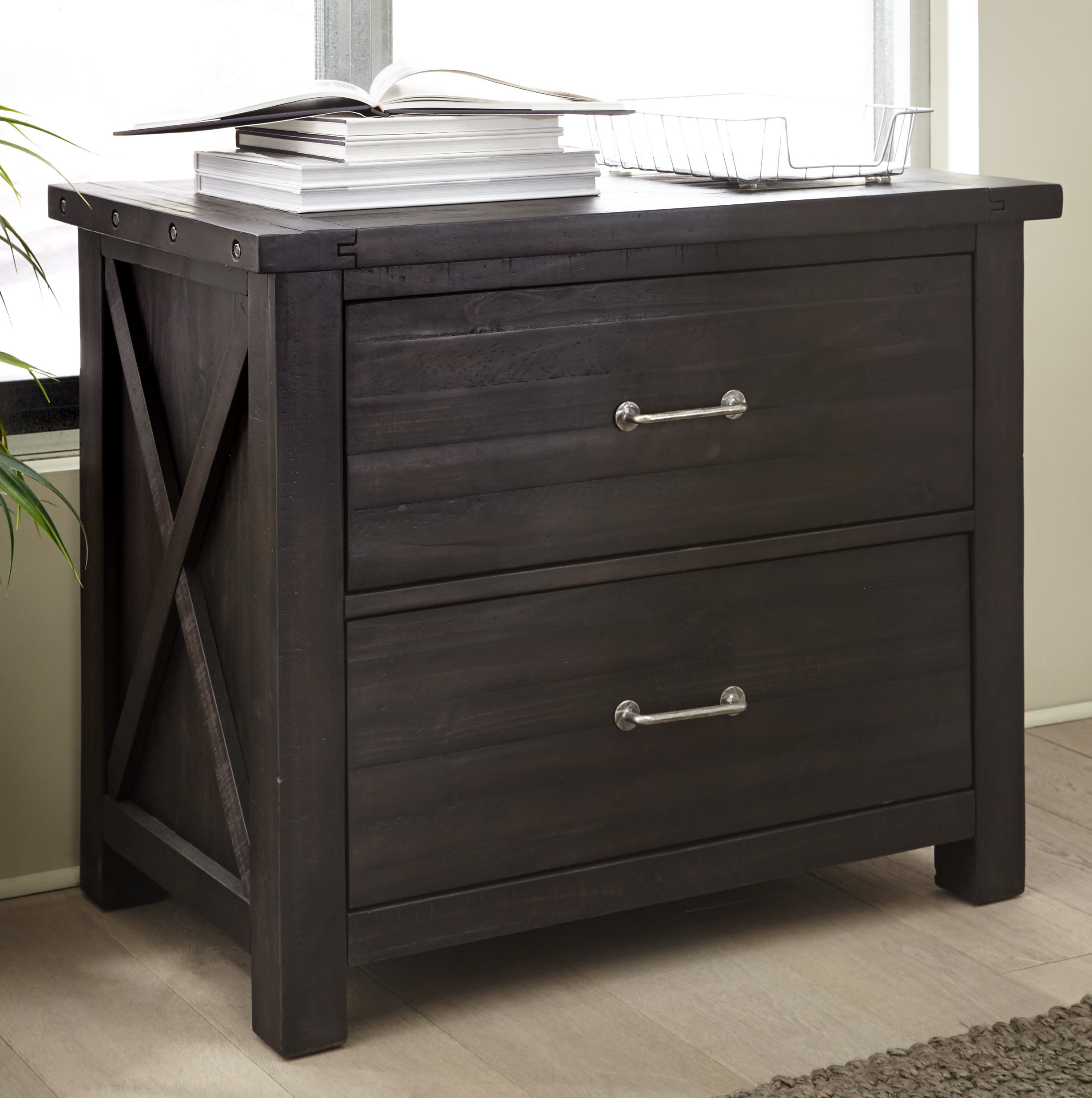 Langsa Solid Wood 2 Drawer Lateral Filing Cabinet throughout proportions 2459 X 2472