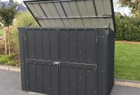 Lotus 5x3 Metal Bin Storage Shed In Anthracite Grey Solid inside sizing 1000 X 892