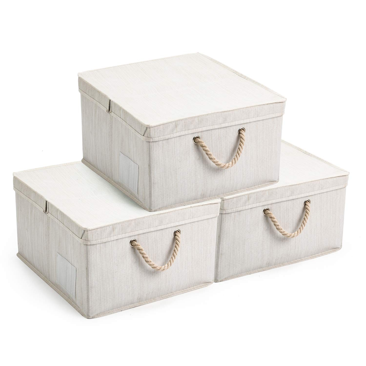 Maidmax Foldable Storage Bins With A Half Or Full Lid Transparent pertaining to measurements 1500 X 1500