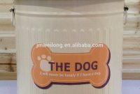 Metal Dog Pet Food Storage Bin Tingalvanized Trash Cangarbage Bin intended for dimensions 1000 X 1353