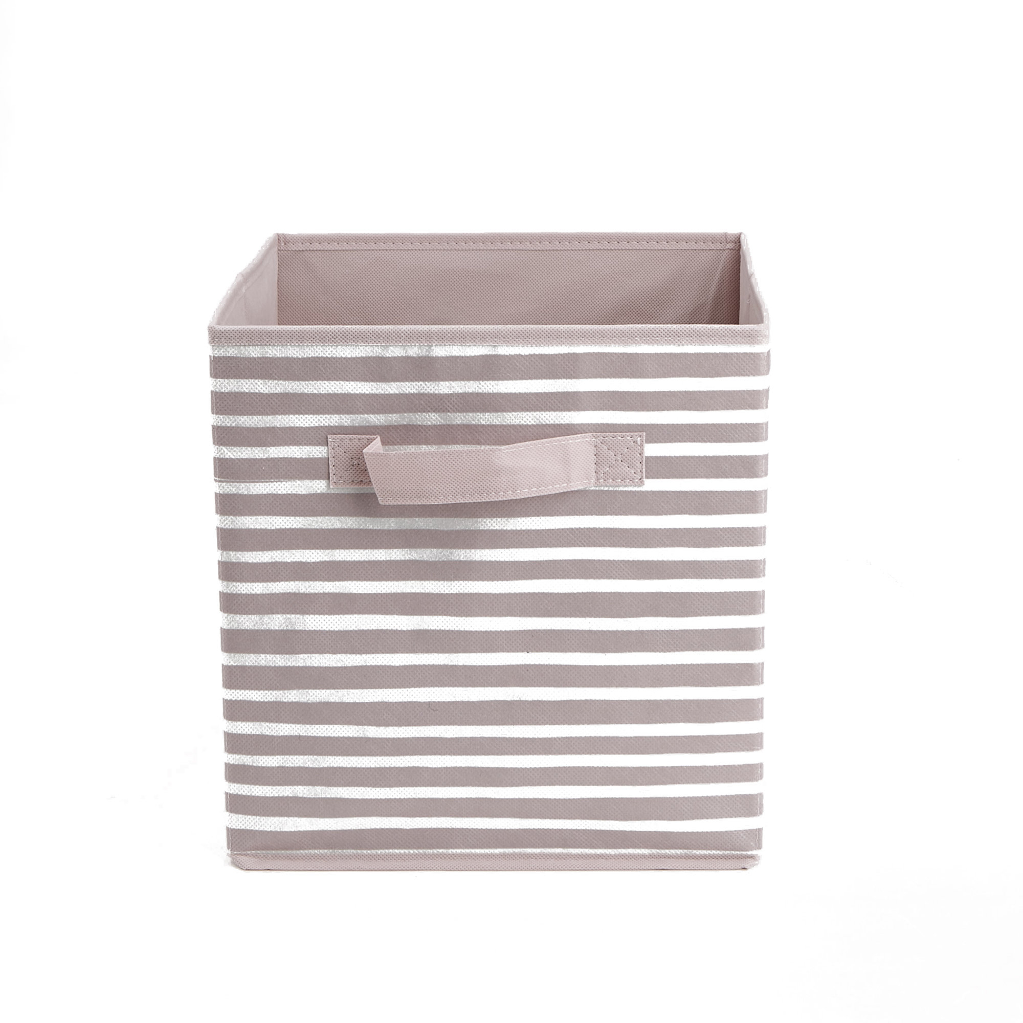 Mind Reader Storage Bin Stripes Design Foldable Storage Basket With within sizing 2000 X 2000