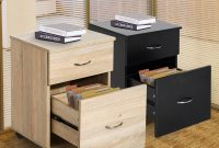 Mobile File Cabinet Wooden Side Table Filling 2 Drawers Pedestal with regard to measurements 1500 X 1500