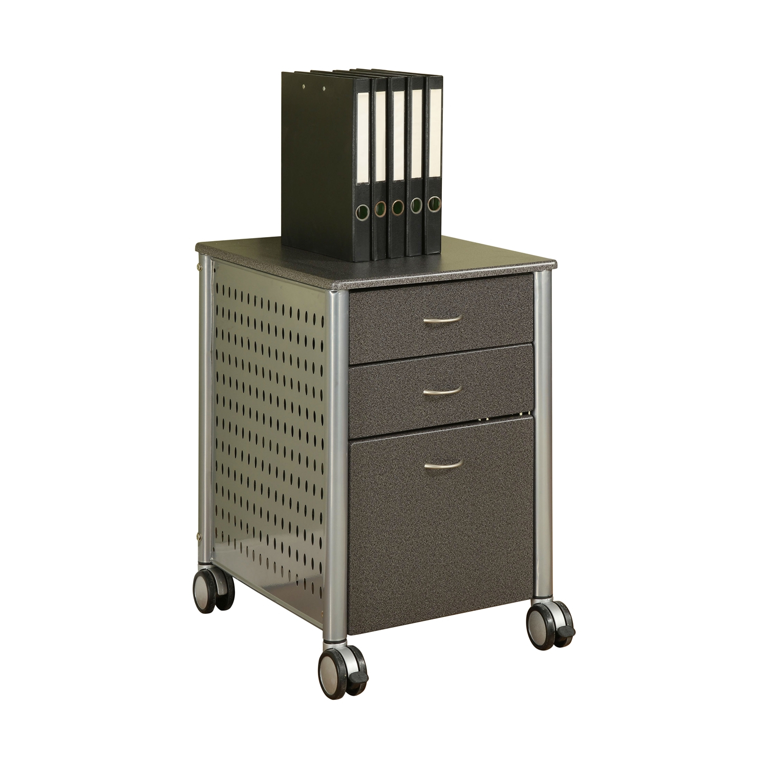 Mobile Filing Cabinet Printer Stand With 2 Office Storage Drawers pertaining to dimensions 1500 X 1500