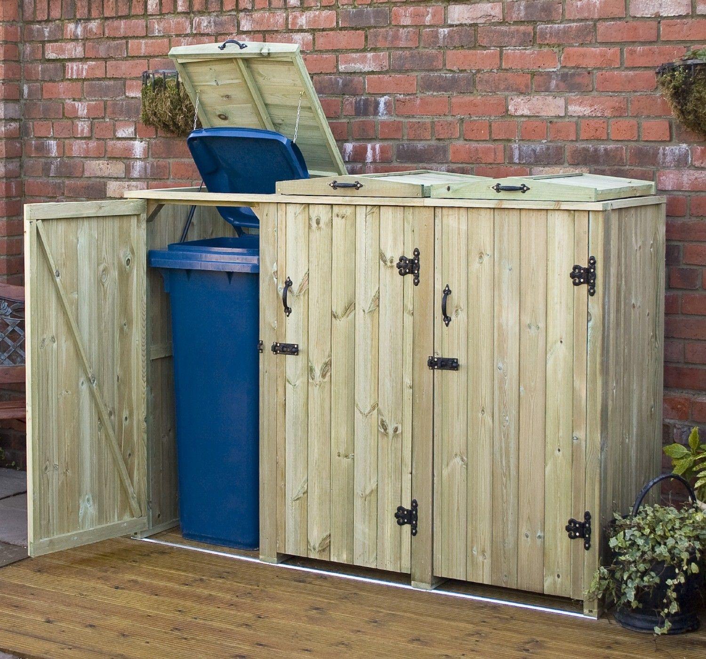 Outdoor Recycling Bin Storage Diy Wheelie Bin Storage Combination with regard to size 1500 X 1400