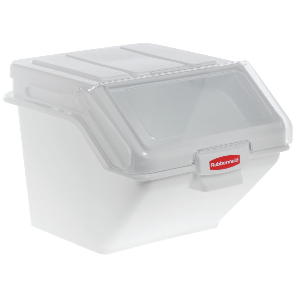 Rubbermaid Prosave 200 Cup White Plastic Stackable Storage Bin in size 1000 X 1000