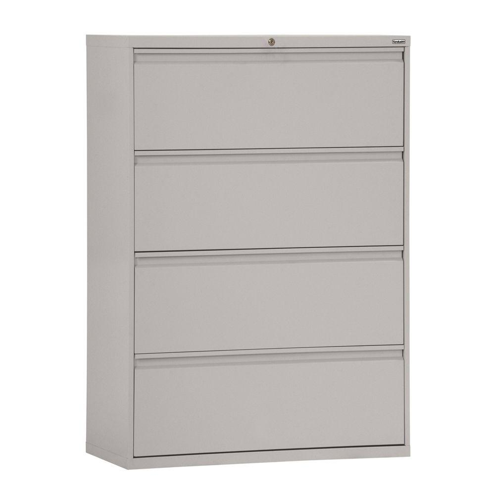 Sandusky 800 Series 36 In W 4 Drawer Full Pull Lateral File Cabinet with measurements 1000 X 1000