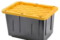 Sandusky Heavy Duty 23 Gal Tote Black Bottom And Yellow Snap Lid regarding sizing 1000 X 1000
