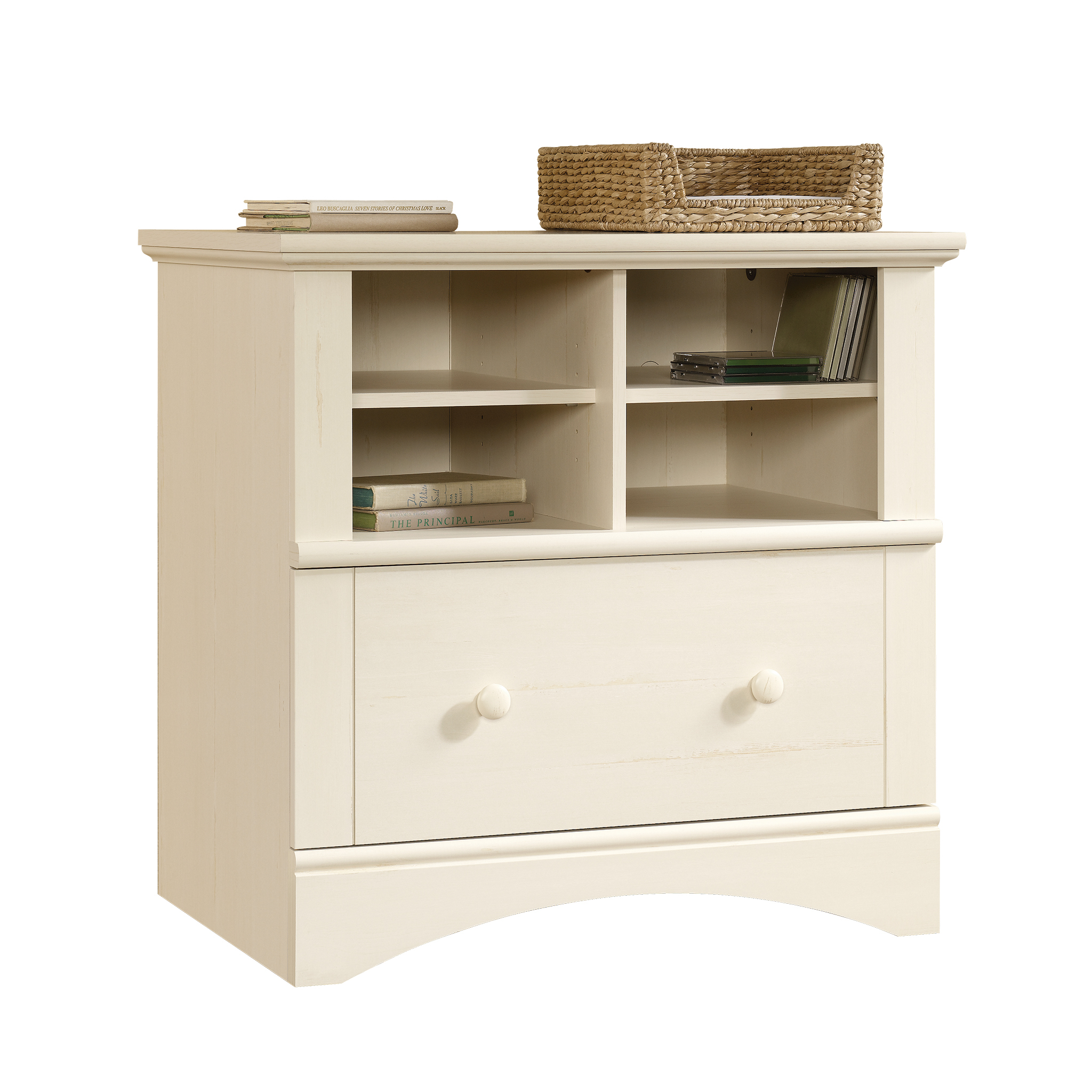 Sauder Harbor View Lateral File Antiqued White Finish Walmart inside proportions 2048 X 2048