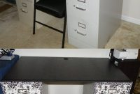 Sewing Desk Diy 2 Filing Cabinets Covered With Contact Paper And A throughout proportions 1474 X 2262