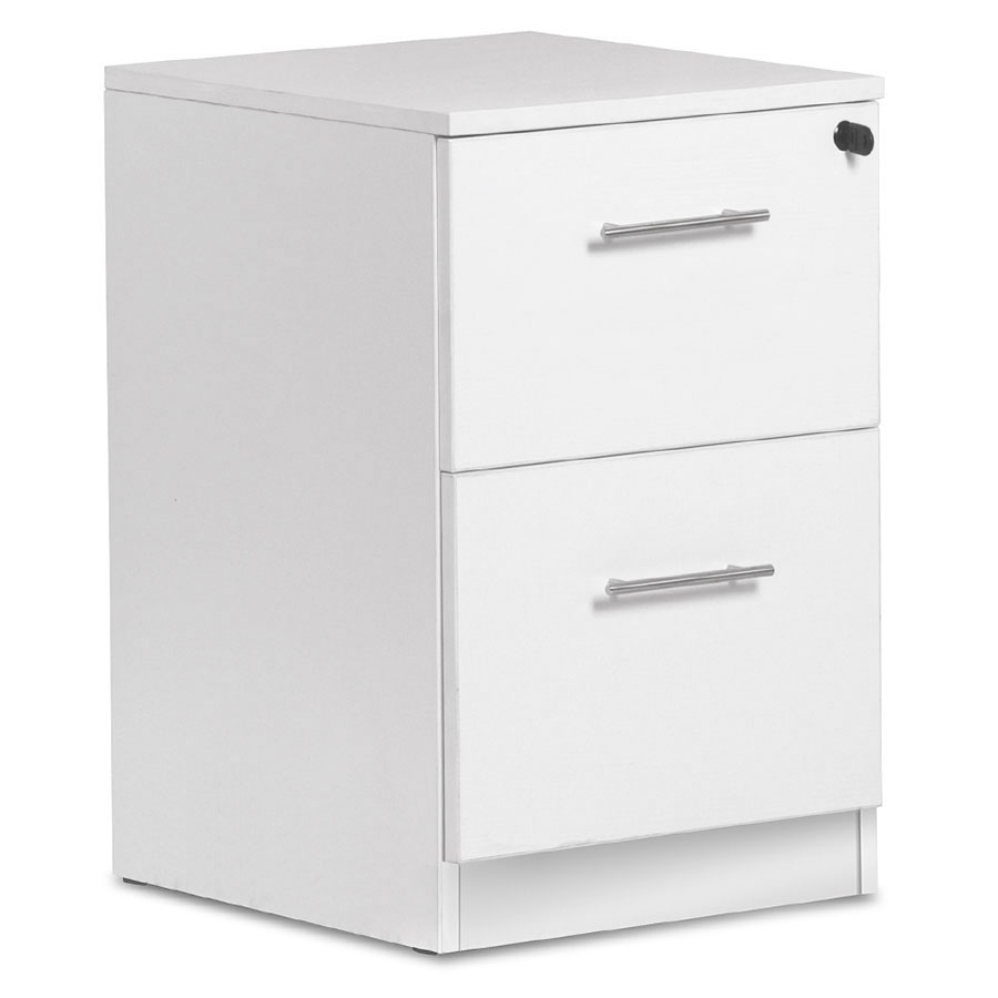 Sirius Two Drawer File White inside proportions 900 X 900