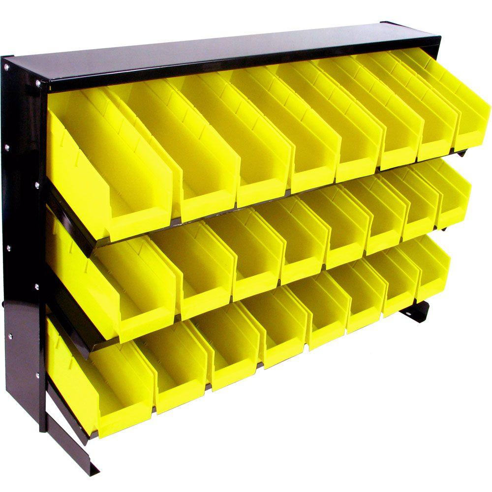 Stalwart 24 Compartment Bin Parts Storage Rack Trays Small Parts throughout proportions 1000 X 1000