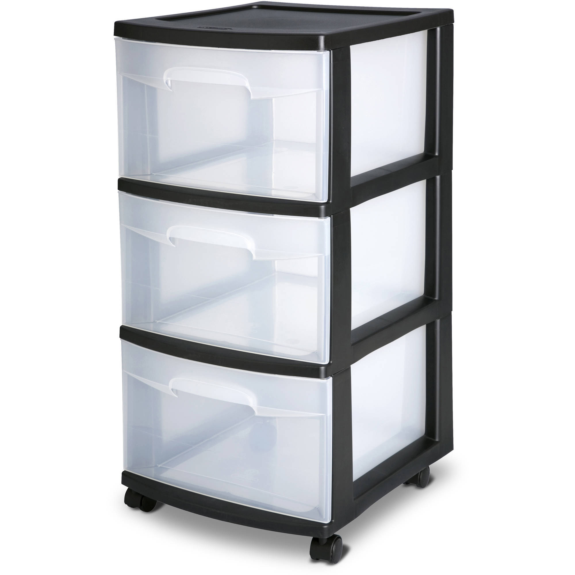 Sterilite 3 Drawer Wide Cart White Walmart pertaining to size 2000 X 2000