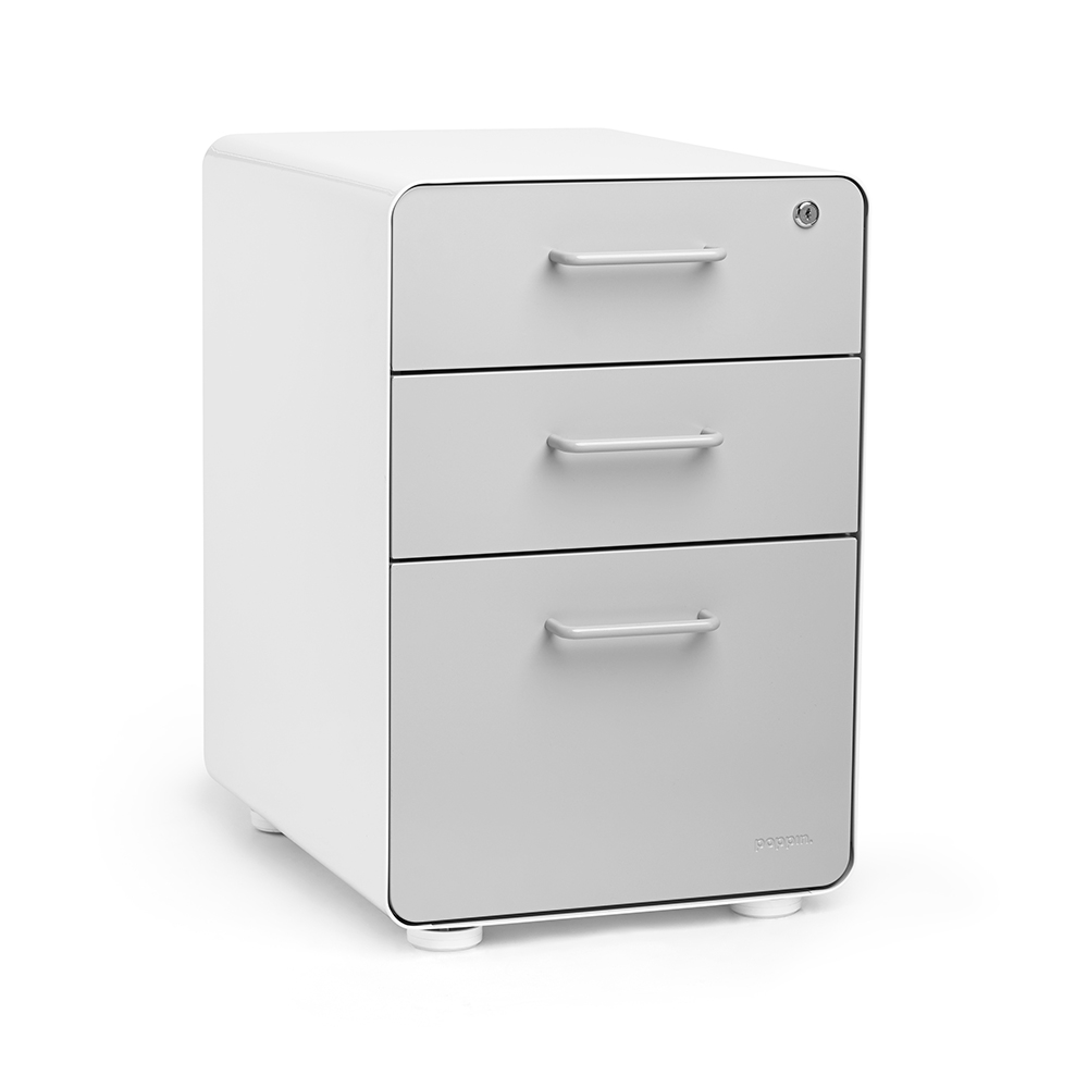 Stow 3 Drawer File Cabinet Poppin in sizing 1000 X 1000