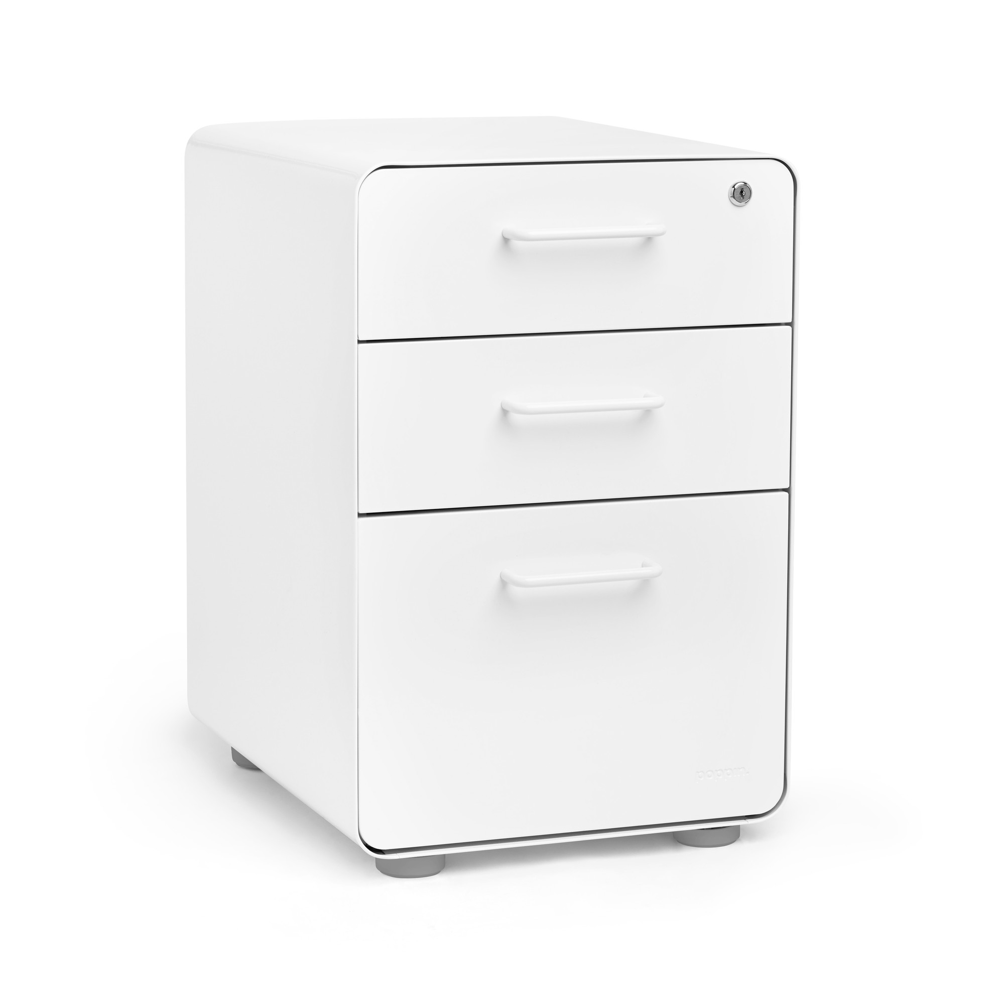 Stow 3 Drawer File Cabinet Poppin with proportions 2000 X 2000