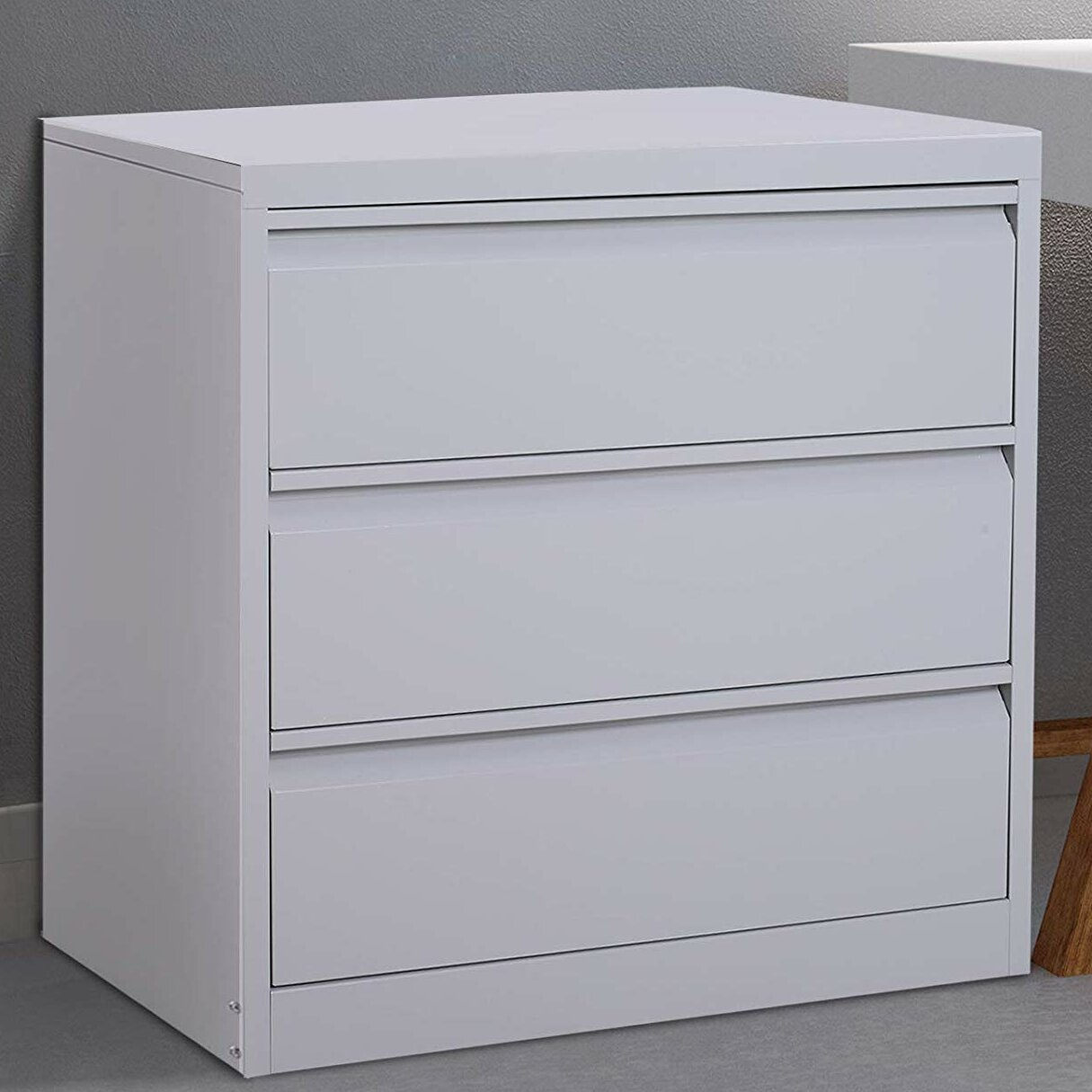 Symple Stuff Tamra Metal 3 Drawer Lateral Filing Cabinet Wayfair within proportions 1215 X 1215