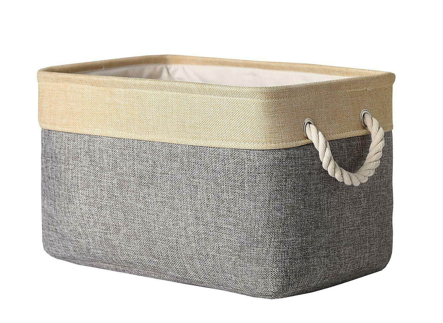 Thewarmhome Decorative Collapsible Rectangular Fabric Storage Bin pertaining to dimensions 1500 X 1094