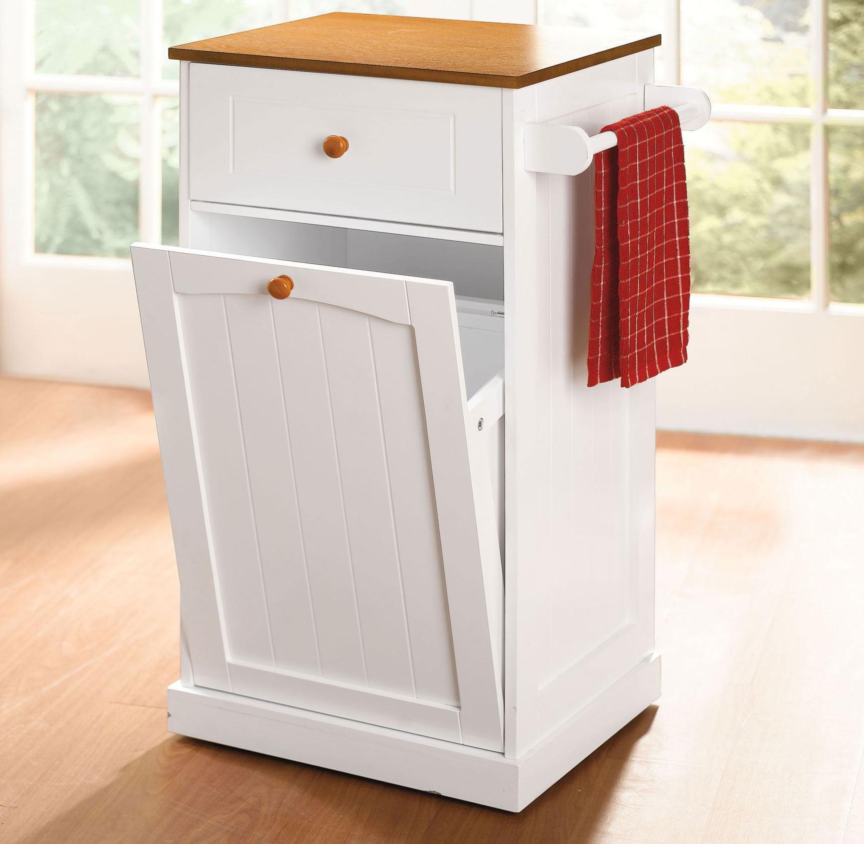 Trash Bin Storage Cabinet • Cabinet Ideas