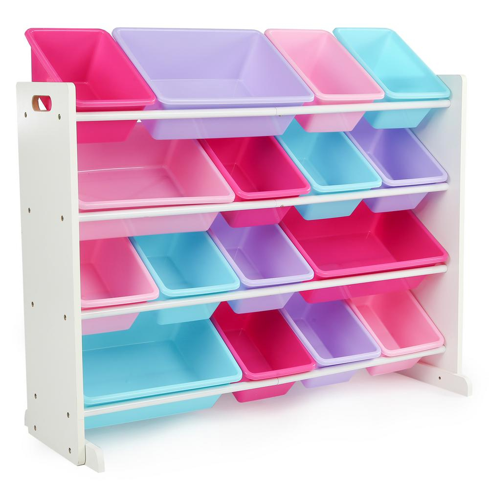 Tot Tutors Forever Whitepastel Super Sized Toy Organizer With 16 with measurements 1000 X 1000