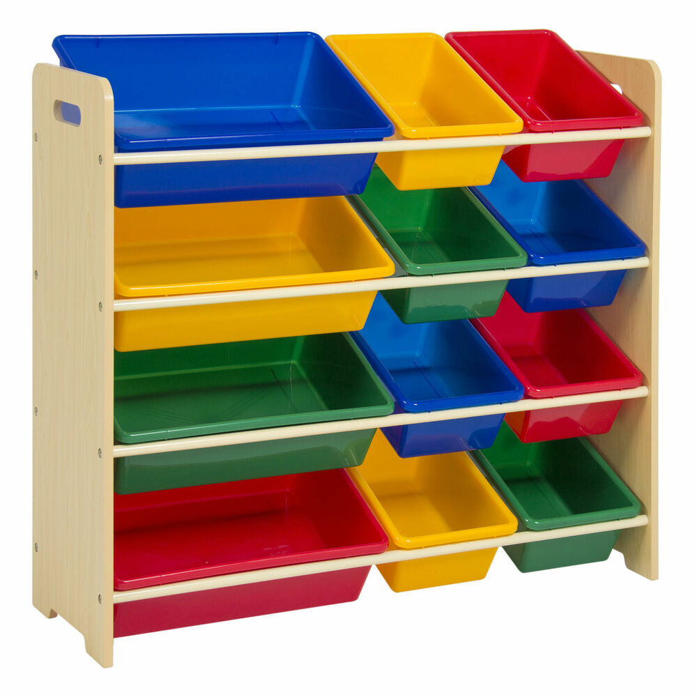 Toy Bin Organizer Kids Childrens Storage Box Playroom Bedroom Shelf throughout dimensions 1000 X 1000