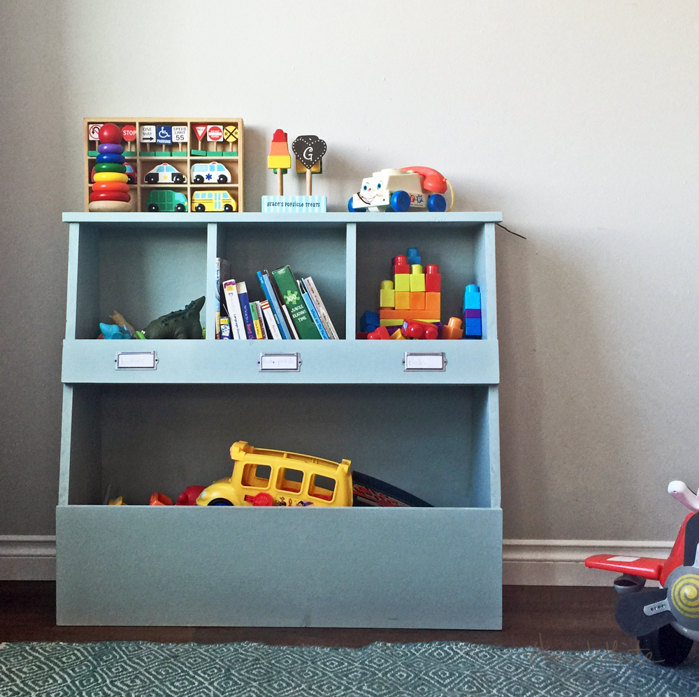 Toy Storage Bin Box With Cub Shelves Ana White pertaining to measurements 1000 X 998