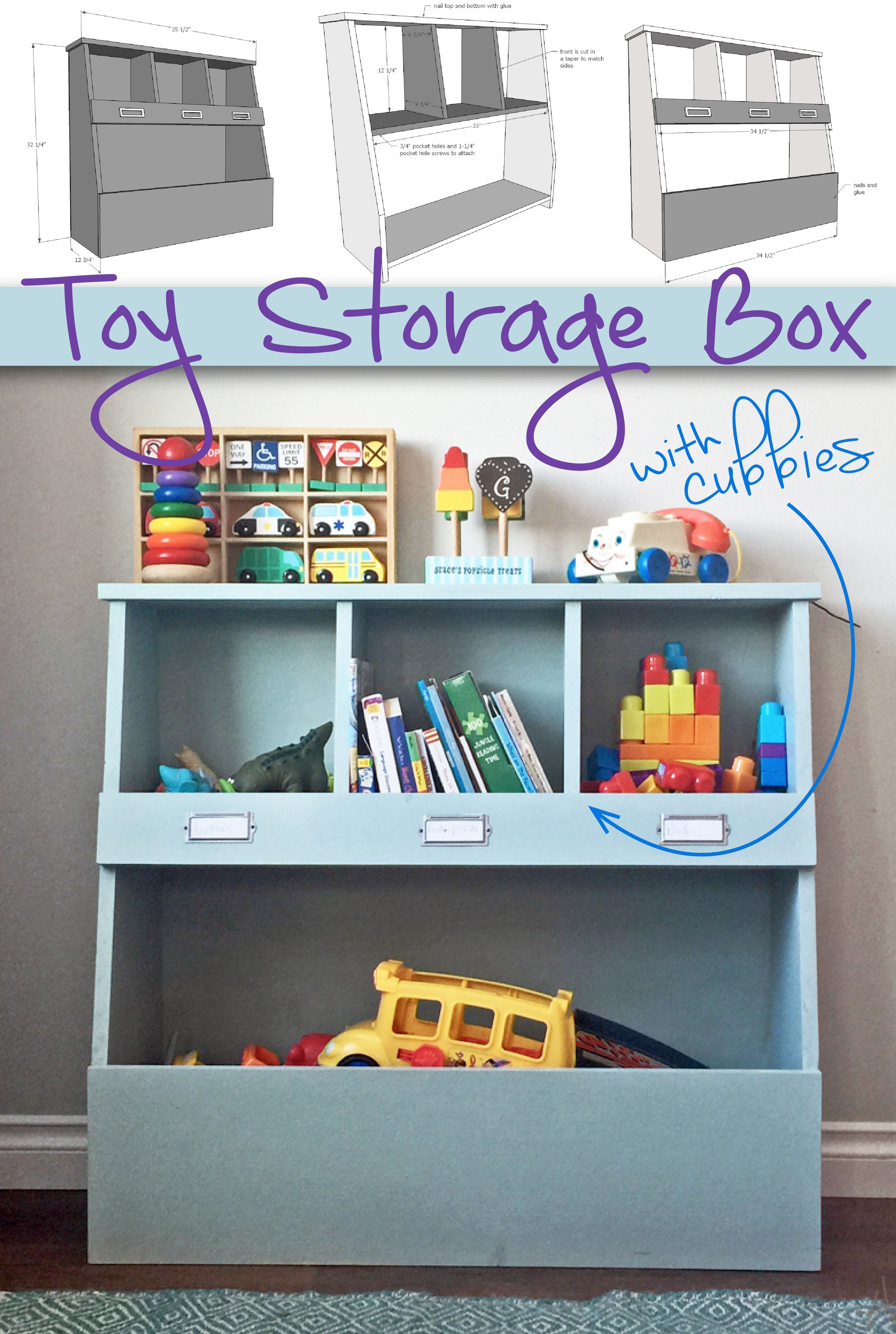 Toy Storage Box With Cubbies Keep Your Home Organized And Your Kids throughout dimensions 3075 X 4575