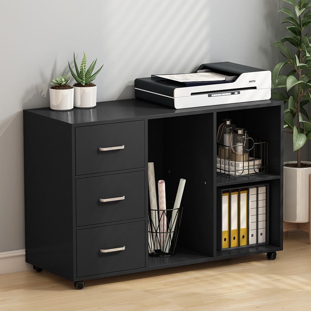 Tribesigns 3 Drawer Wood File Cabinets Large Modern Lateral Mobile regarding dimensions 1001 X 1001