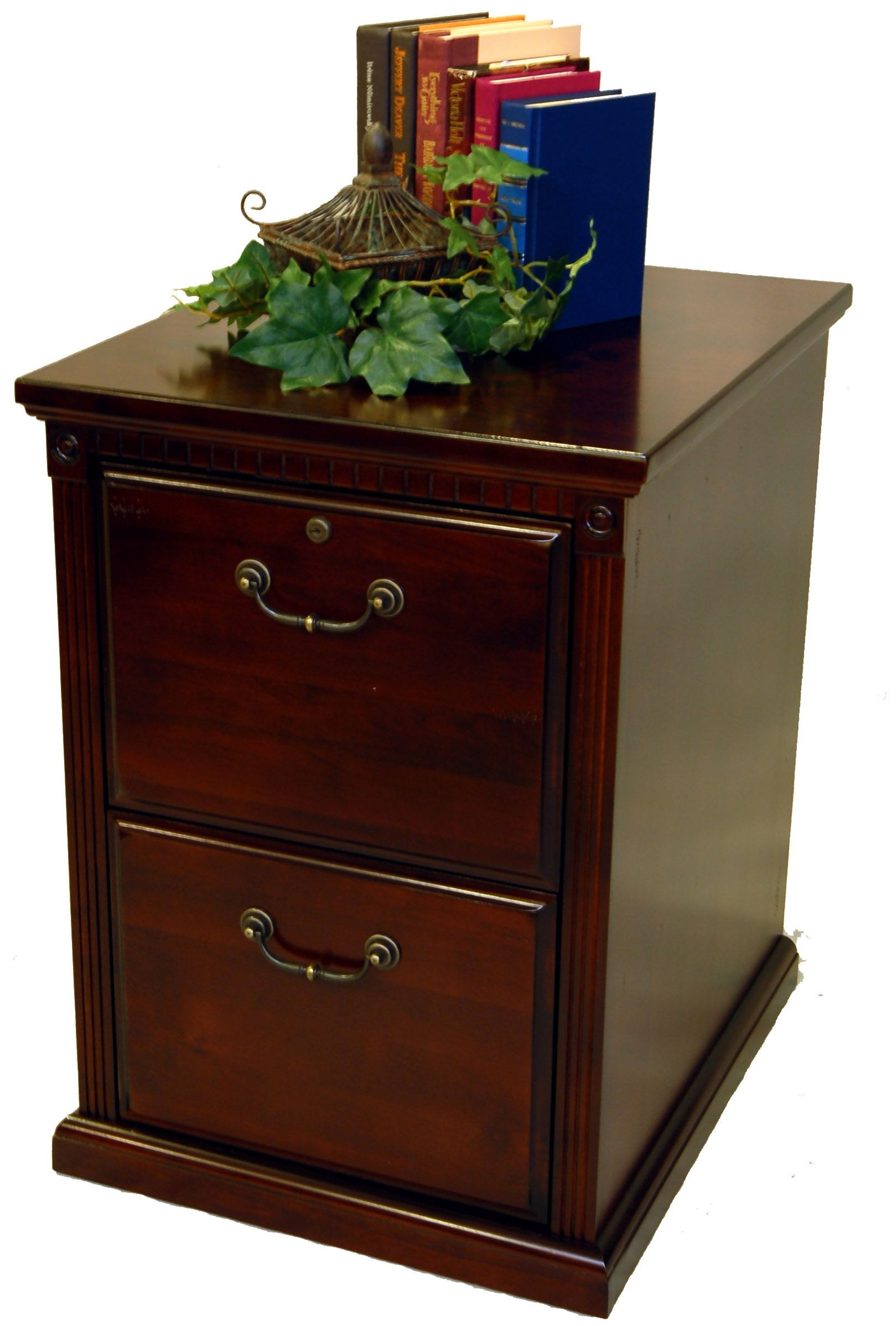 Two Drawer Cherry Wood Filing Cabinet Office Filing Cabinet 2 regarding proportions 1619 X 2396