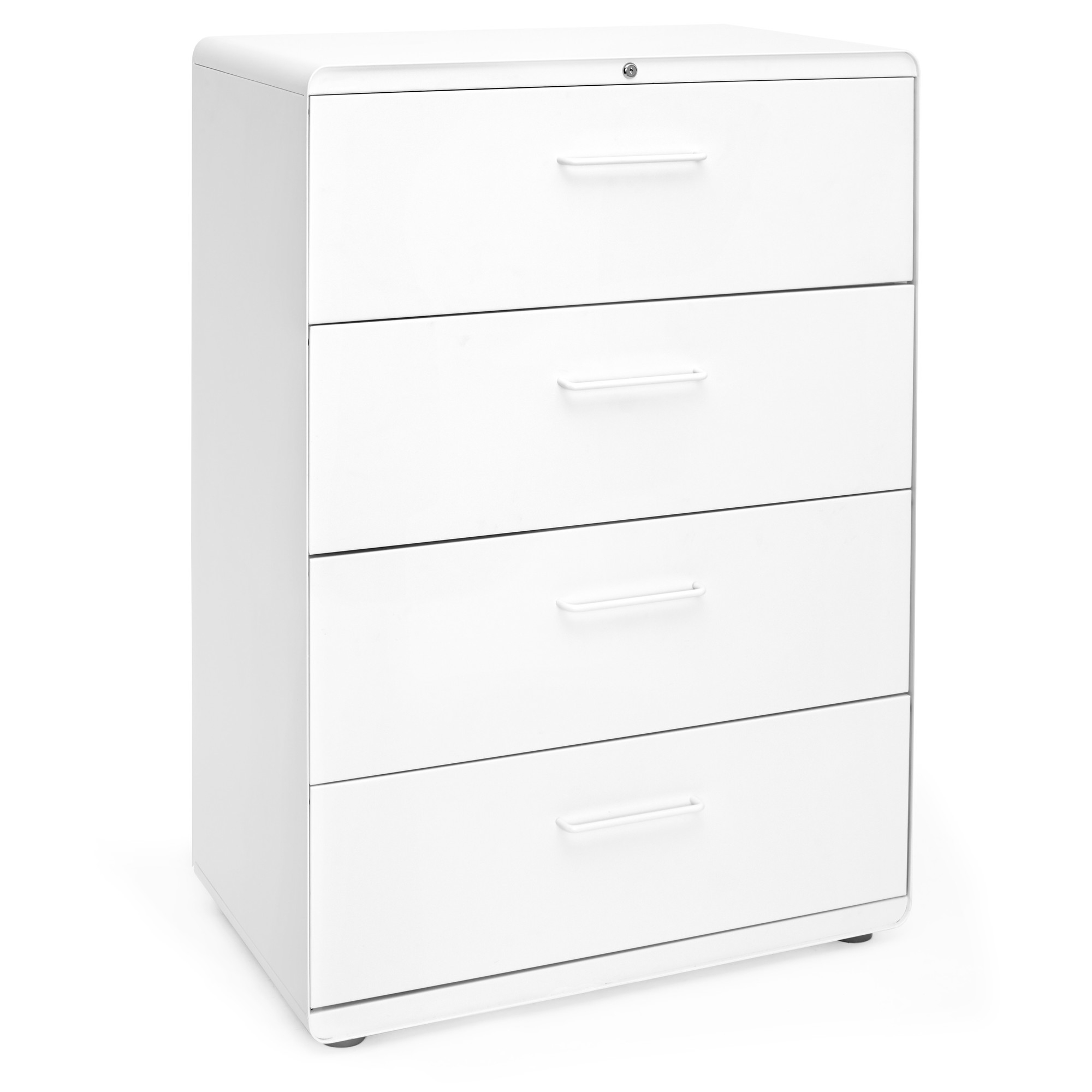 White Stow 4 Drawer Lateral File Cabinet File Cabinets And Storage for sizing 2000 X 2000
