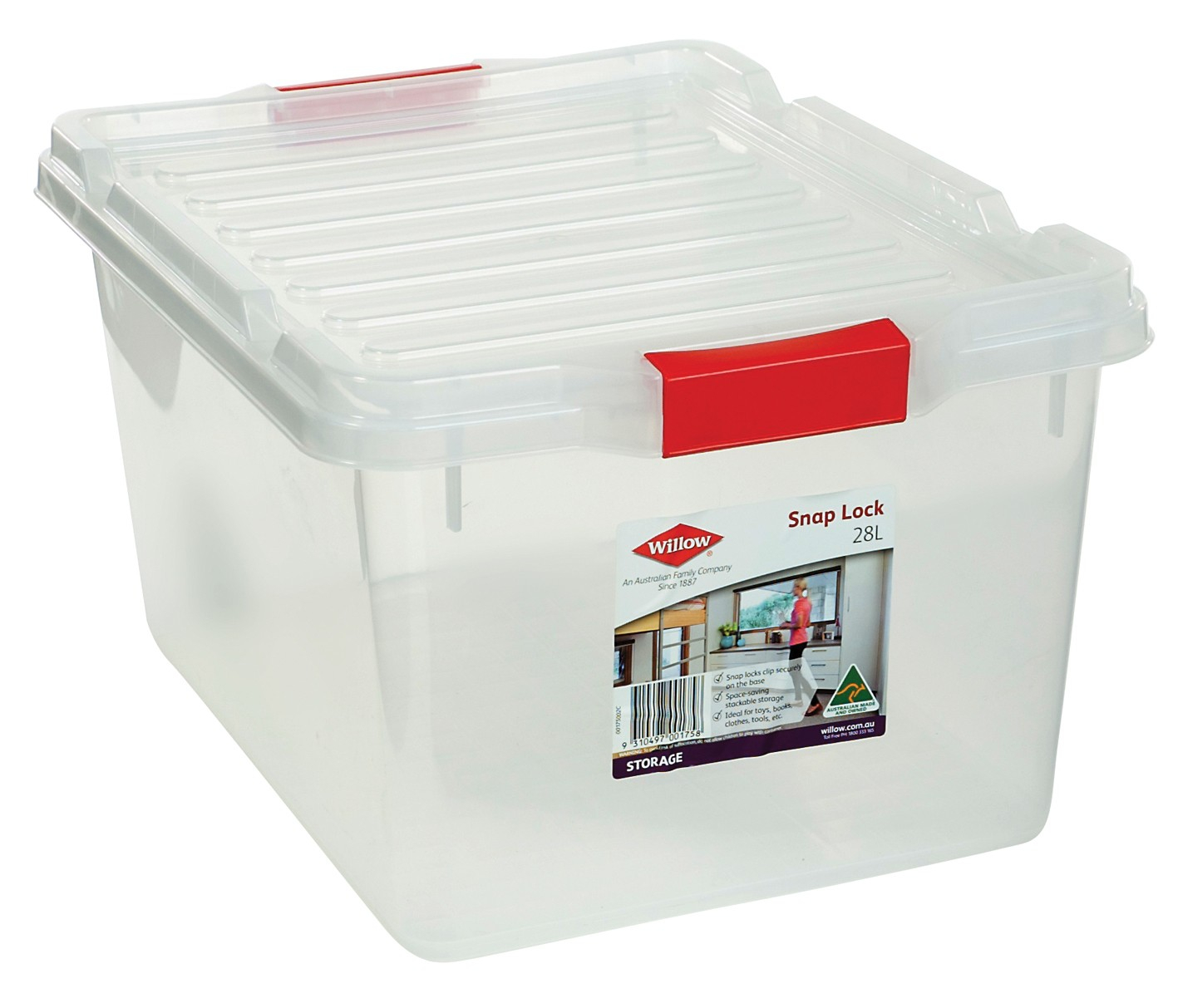 Willow Storage Box 28l Snap Lock Lid From Storage Box with regard to dimensions 1417 X 1213