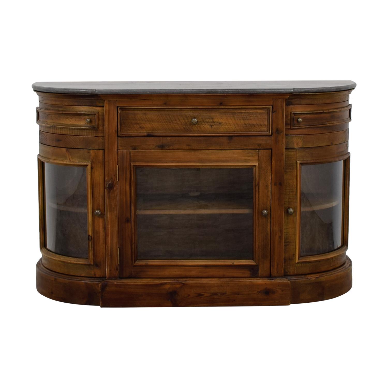 79 Off Arhaus Arhaus Kensington Wood Media Cabinet Storage inside size 1500 X 1500