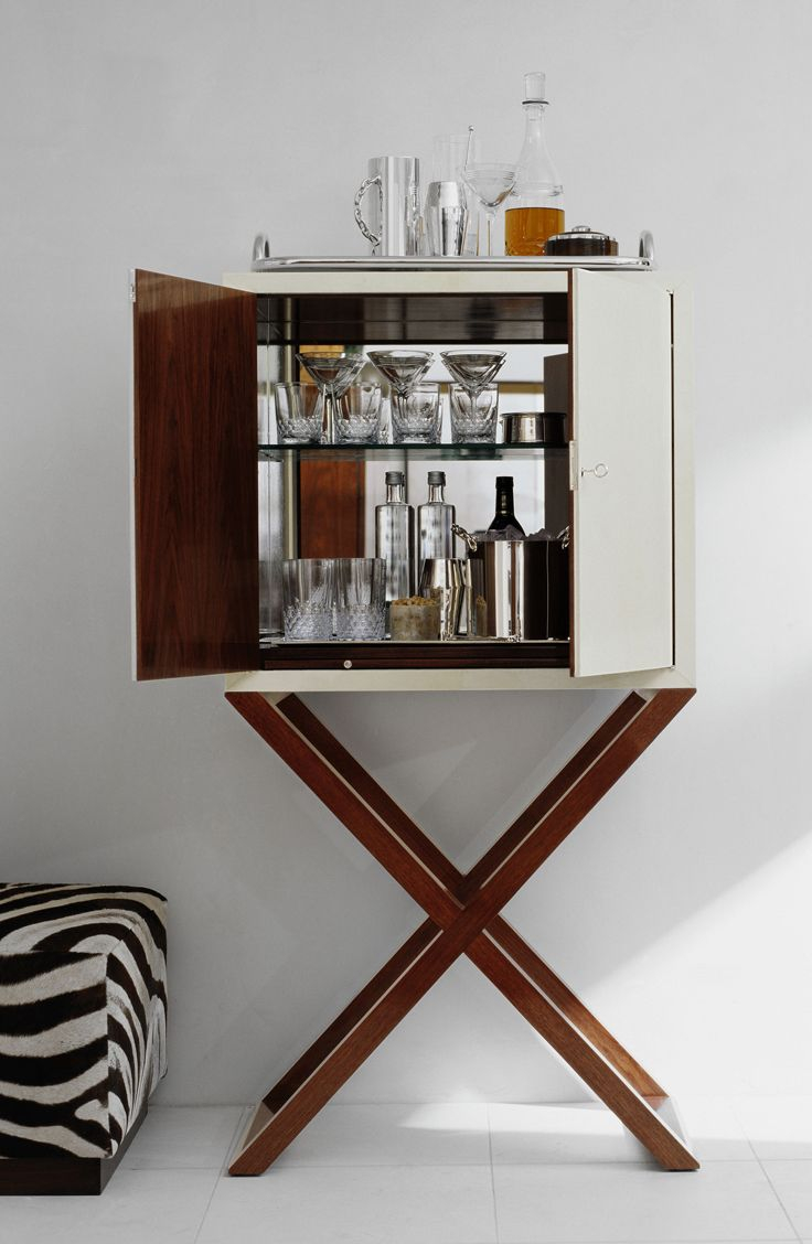 A Chic Bar Cabinet Reveals The Makings Of Cocktail Hour intended for dimensions 736 X 1128