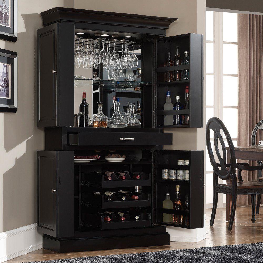 Ahb Francesca Corner Bar Cabinet Black Home Bars At regarding size 1000 X 1000