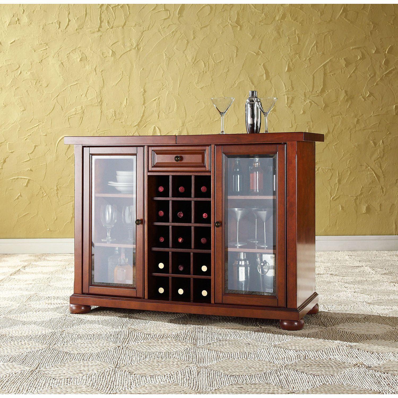Alexandria Sliding Bar Cabinet Cherry D Kf40002ach in measurements 1500 X 1500