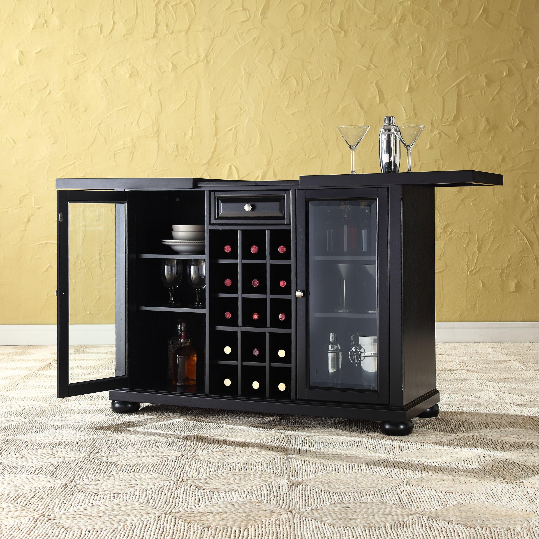 Alexandria Sliding Top Bar Cabinet Black Finish for sizing 3001 X 3001