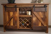 Amish Reclaimed Oak Wood Sliding Barn Door Buffet Sarasota pertaining to dimensions 1920 X 1247