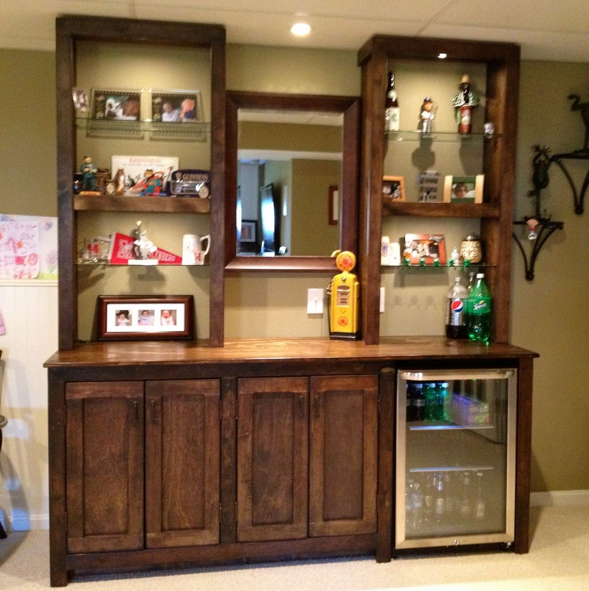 Bar Cabinets And Shelves Ana White intended for dimensions 1196 X 1200
