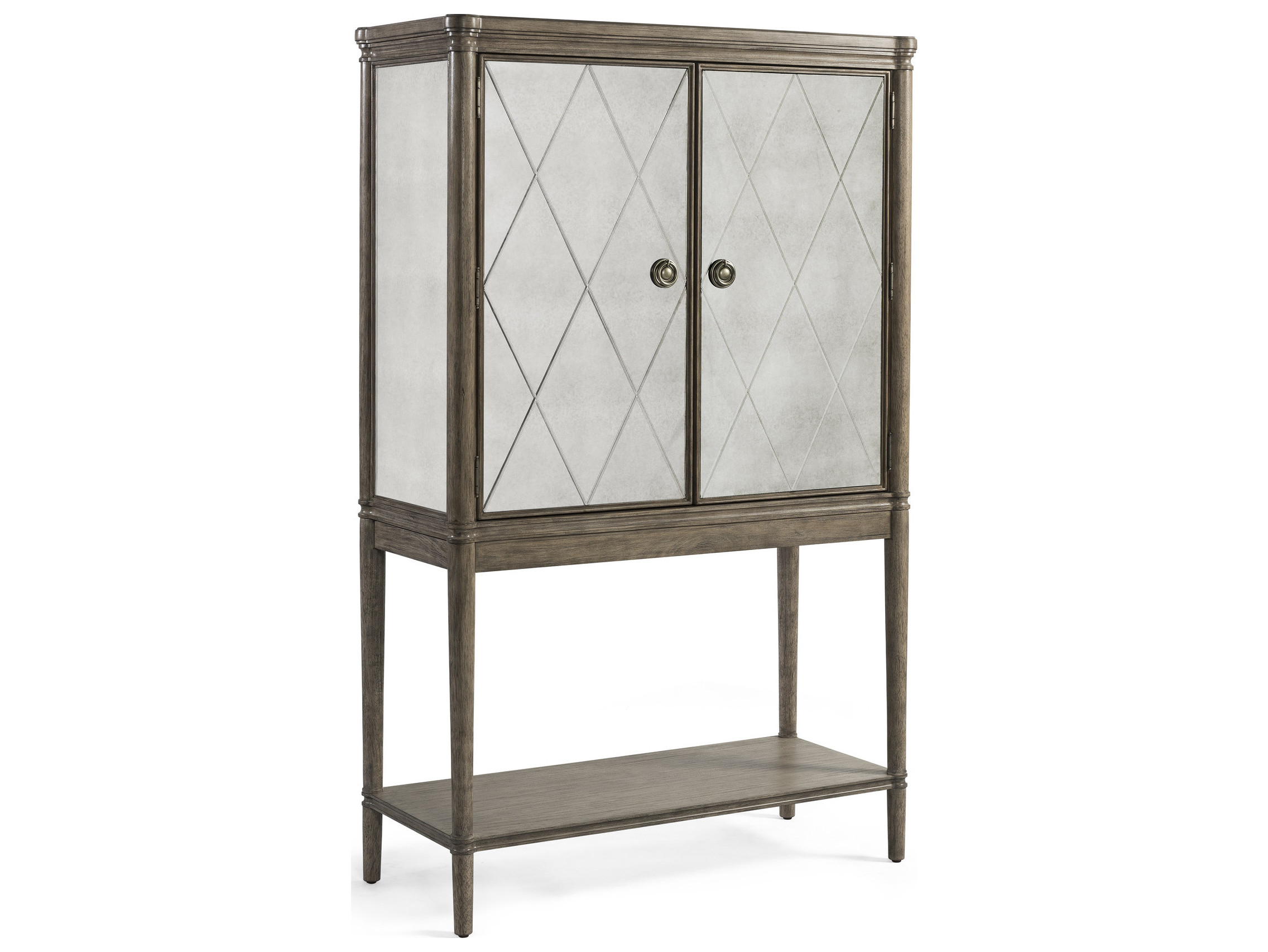 Bassett Mirror Abrielle White Peony Tea Bar Cabinet within dimensions 2272 X 1705