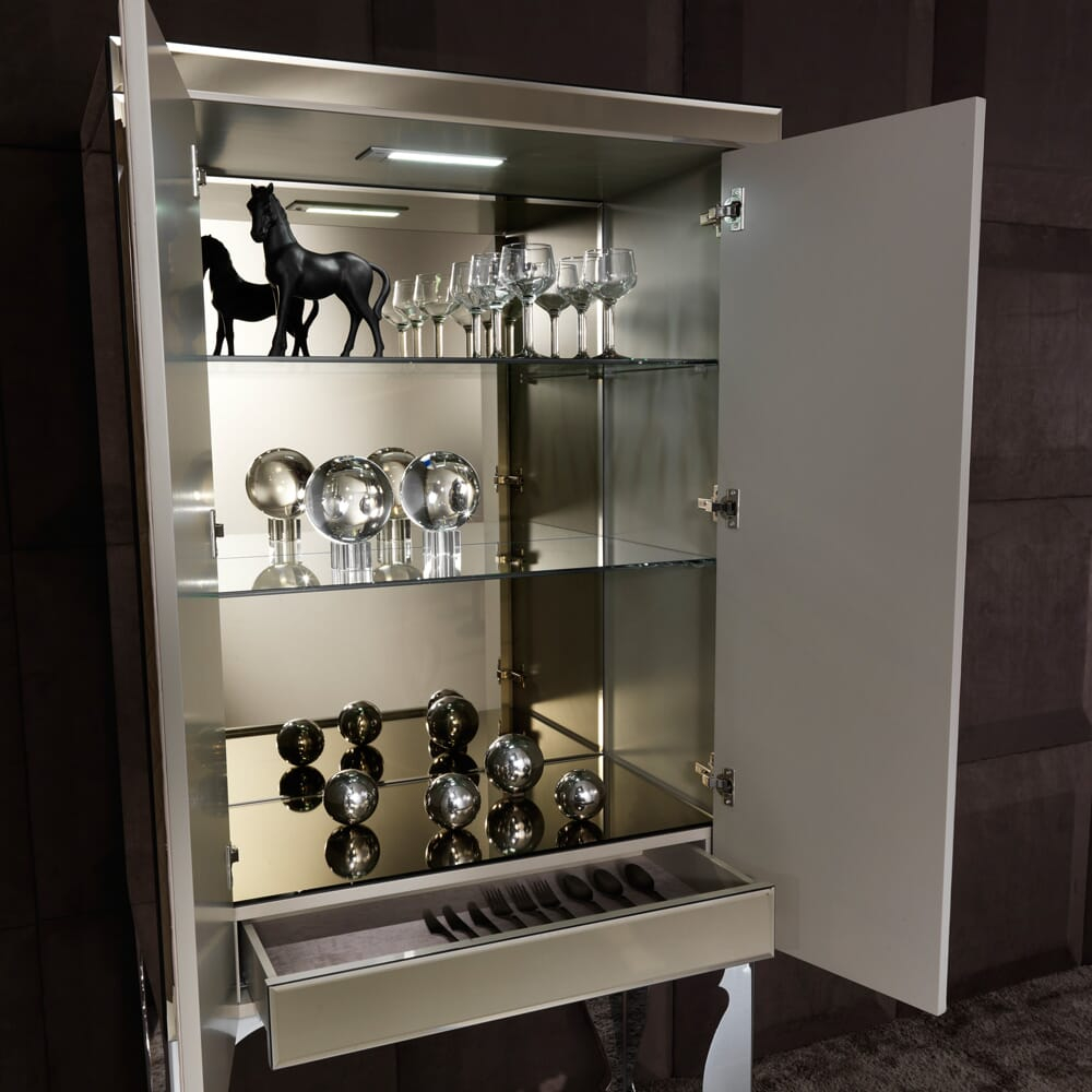 Bronze Mirrored Leather Cocktail Bar Cabinet Juliettes Interiors intended for measurements 1000 X 1000