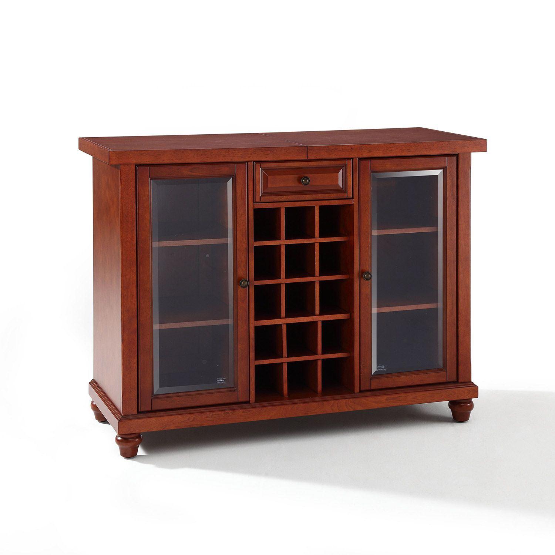 Cambridge Sliding Top Bar Cabinet Cherry D in measurements 1500 X 1500