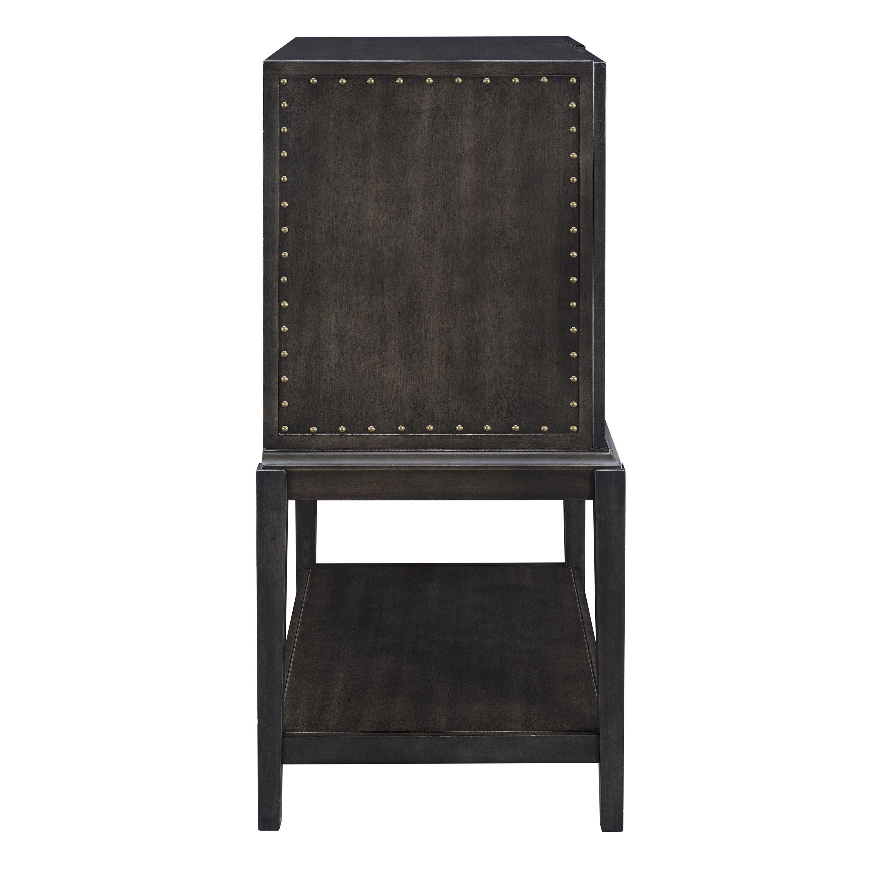 Carbon Loft Meyers Dark Brown Industrial Bar Storage Cabinet inside dimensions 3000 X 3000