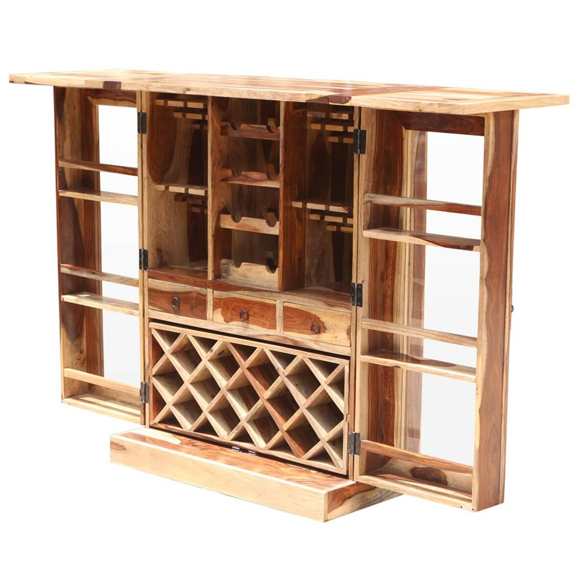 Cordaville Solid Wood Foldout Complete Wine Bar Liquor Cabinet in dimensions 1200 X 1200